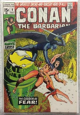 Conan the Barbarian #9 (Marvel 1971) VF- condition.45 year old classic. Rare.