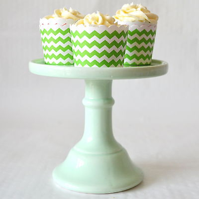 Small Ceramic Pastel Green Cake Stand