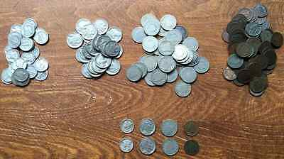Mercury Dime Lot - Indian Head Cents, Buffalo Nickels, V-Nickels! 8 Coins Total!