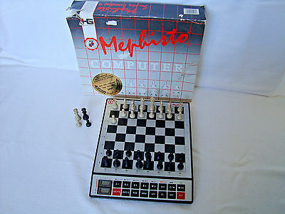 Mephisto Super Mondial II Germany Electronic Chess 1991 Working Boxed