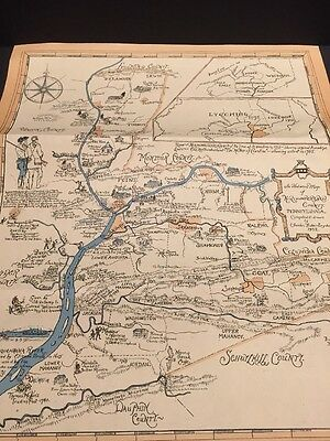 Historical Map of Northumberland County Pennsylvania 1932 Charles Fisher Snyder