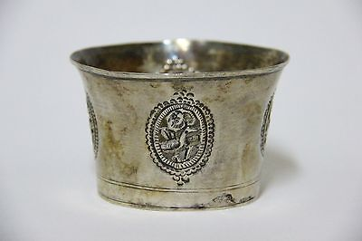 Antique 19Th.c Islamic Ottoman Persian Solid Silver Hookah Shisha Top Bowl