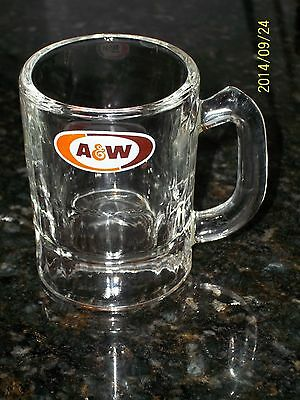 A & W MINI Child MUG MINT Root Beer NOS NEVER USED 1968 Baby Soda Fountain GLASS
