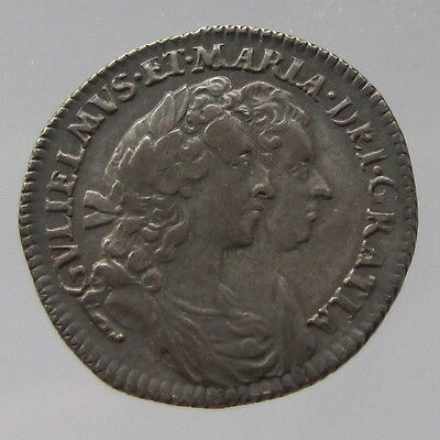 William & Mary, silver sixpence, 1693, VF/near EF
