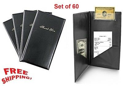 60 Guest Check Presenter Book Credit Card Holder Bill Receipt Restaurant Folder