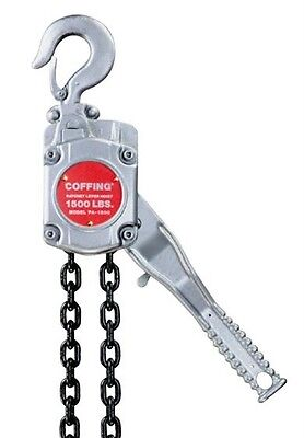 Coffing - 1,500 Lbs., 3/4 Ton, 10 Ft. Lift Height, Aluminum Ratchet Lever Hoist