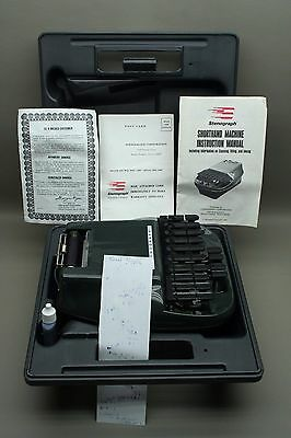 VINTAGE STENOGRAPH & GRAY CASE REPORTER SHORTHAND MACHINE w/ Owner's Manual Ink