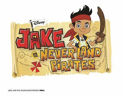 "FREE/""JAKE AND THE NEVERLAND PIRATES/""  MOVIE ART//POSTER //BANNER//PICTURE  30X8.5/"""