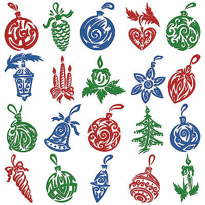 Christmas Decorations 2 * Machine Embroidery Pattern CD * 20 designs