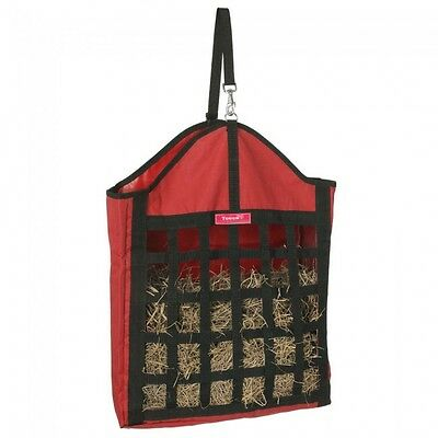 Tough 1 red oversized nylon net front hay tote horse tack equine