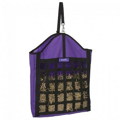 Tough 1 purple oversized nylon net front hay tote horse tack equine 72-1635