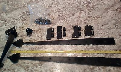 Vintage Door Hardware Forged Hammered Iron and Latch Heart Tips  Lot of 8 Pieces