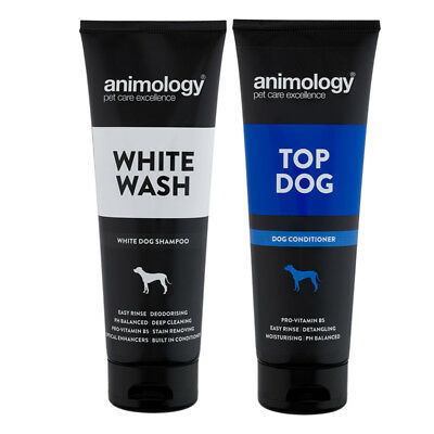Animology Top dog Conditioner & White Wash White Dog Shampoo Set