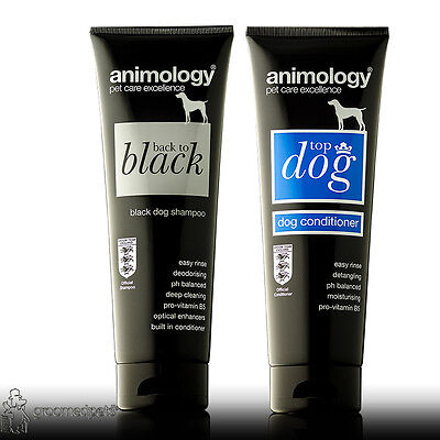 Animology Back to Black Dog Shampoo and Top Dog Conditioner Set