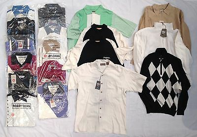 Lot of 18 Bobby Chan Men's Shirts, Jackets Size Small NWT