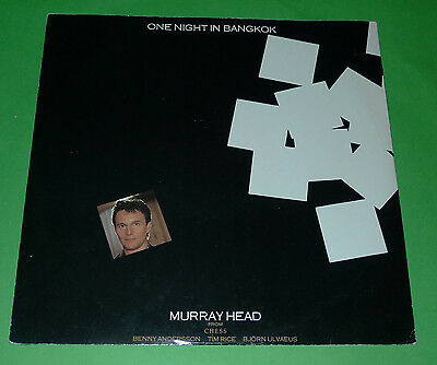 """Murray Head 12"""" One Night In Bangkok 1984 Excl Lso Chess Tim Rice Chesst1"""