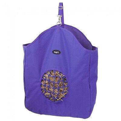 Tough 1 Purple hay bag slow feed tote with poly net horse tack equine 72-1827