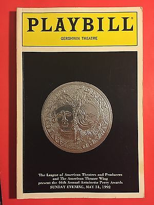 1992 Tony Award Playbill w/ Glenn Close (Best Musical: Crazy For You)