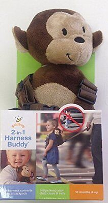 Goldbug 2 in 1 Safety Harness - Monkey, soft, durable, converts to backpack