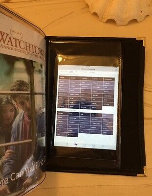 SERVICE ORGANIZER, CHOOSE YOUR COLOR (Black, Brown or Purple) Jehovah's Witness