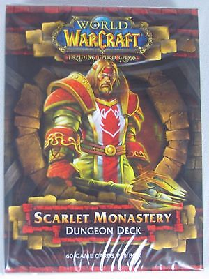 WoW TCG DUNGEON DECK SCARLET MONASTERY INCLUDING 2 HERO CARDS, RULEBOOK, NEW