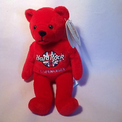 Hard Rock Cafe Collectible Bean Bag Bear - Copenhagen NEW WITH TAGS