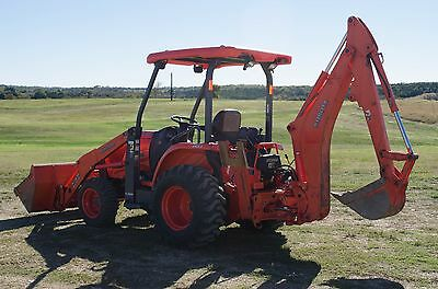 2013 KUBOTA L-45 L45 4wd 4x4 RARE Commercial BACKHOE -LOW HRS- WILL PRICE MATCH!