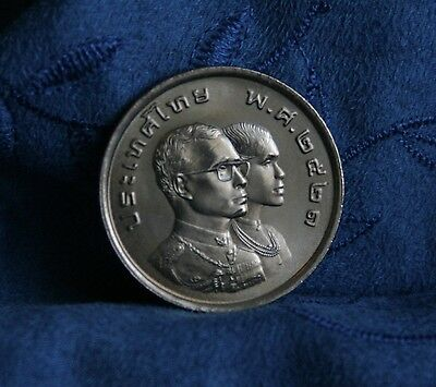 King Bhumibol Adulyadej and Queen Thailand 5 Baht 1978 Coin ASEAN Games Rama IX