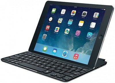 Logitech Ultrathin Magnetic Clip-On Keyboard Cover for iPad Air Space Grey (NORD