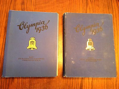 Pair of Olympic Books from 1936's German Games with Jesse Ownes