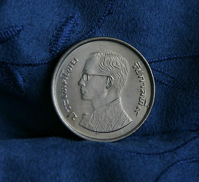 King Bhumibol Adulyadej 50th Birthday Thailand 5 Baht 1977 Coin Rama IX Thai