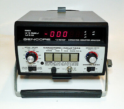 Sencore LC-53 Z Meter Capacitor -Inductor Analyzer!
