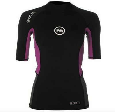 Hot Tuna Ladies Neoprene Shirt Black Purple short sleeve All Sizes with tag