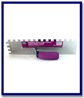 SS Large format 14mm Notch trowel