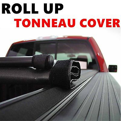 "Lock Roll Up Soft Tonneau Cover For 2007-2013 Sierra/Silverado 5'8"" Short Bed"