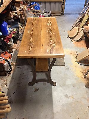 Cast Iron And Pitch Pine Table