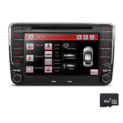 "7"" Autoradio für VW T5 PASSAT GOLF 5 SEAT SKODA Bluetooth NAVIGATION GPS DVD USB"