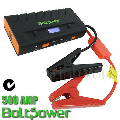 Bolt Power Bank Jump Starter Start 500 Amp Battery Diesel Petrol USB Charger