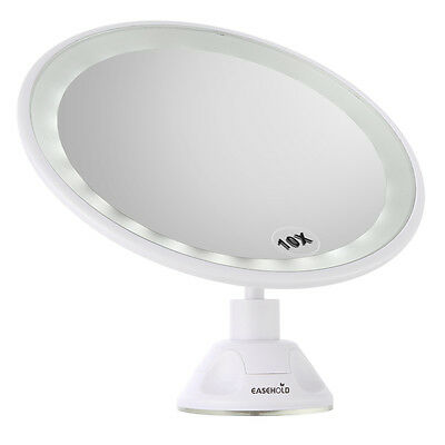 Easehold 360°Rotating 10X Magnifying Illuminated 24 LED Makeup Shaving Mirror【UK