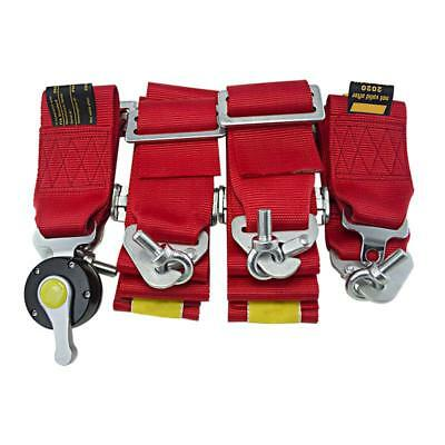 """Car 2X 4 Point Racing Safety Harness Camlock 3"""" Inch Strap Seat Belt"""