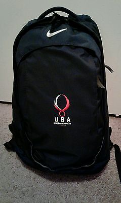 Nike Team USA Olympic Paralympics 2008 Backpack Navy Blue 20""