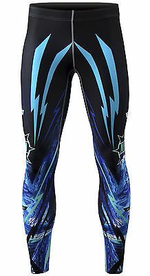 Mens Womens  Compression Tights pants mma running bjj gym  Base Under  S~3XL