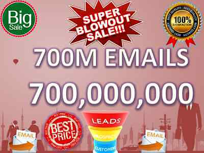 Buy 700 M Email Lists Super Blowout