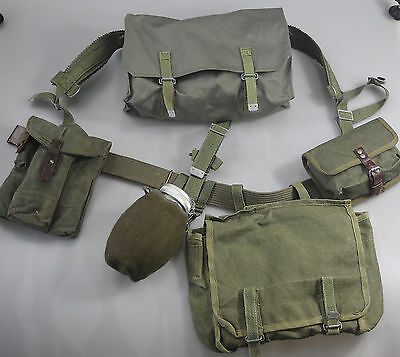 Polish Army WEBBING SET, BELT POUCH SUSPENDERS COVER BOTTLE BAGS WARSAW PACT g