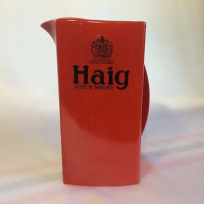 Vintage Carlton Ware Haig Scotch Whiskey Red Water Jug in New Condition