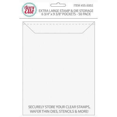 Avery Elle Stamp and Die Storage Pockets - EXTRA LARGE - pack of 50