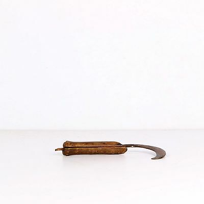 Vintage Old Farming Tool Used By Farmers With Wooden Handle 1772