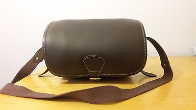 New Leather Cartridge Bag With Beautiful Design Attached Brass Buckles. 3PN