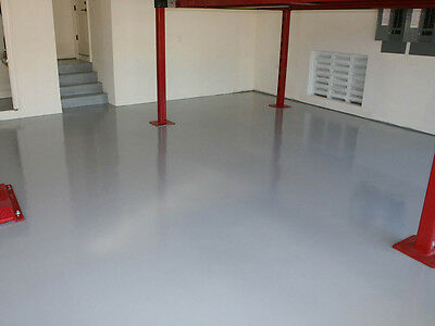 2K (Pack) Epoxy Resin Concrete Floor Paint - Light Grey -  5 Litres