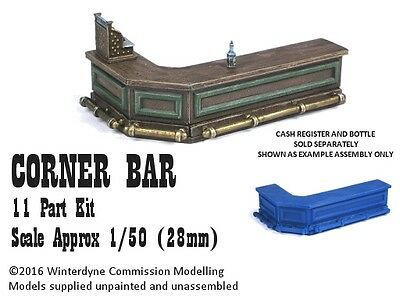 O/On30/1:48/28mm/32mm 3d printed Corner Bar Kit (11 piece kit)
